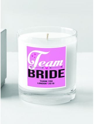 Team Bride Personalised Candle