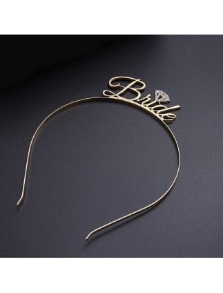 Gold Metal 'Bride' Hairband