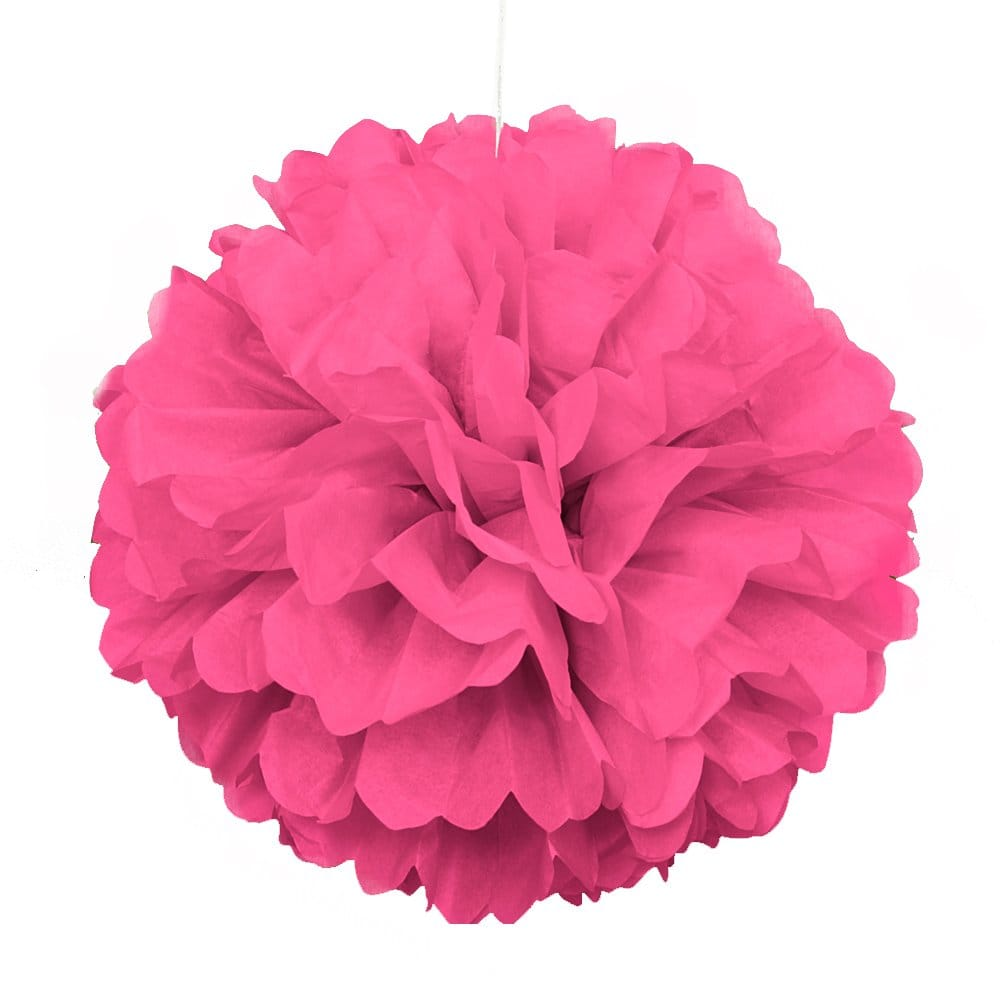 Decorative Pink Puff Ball