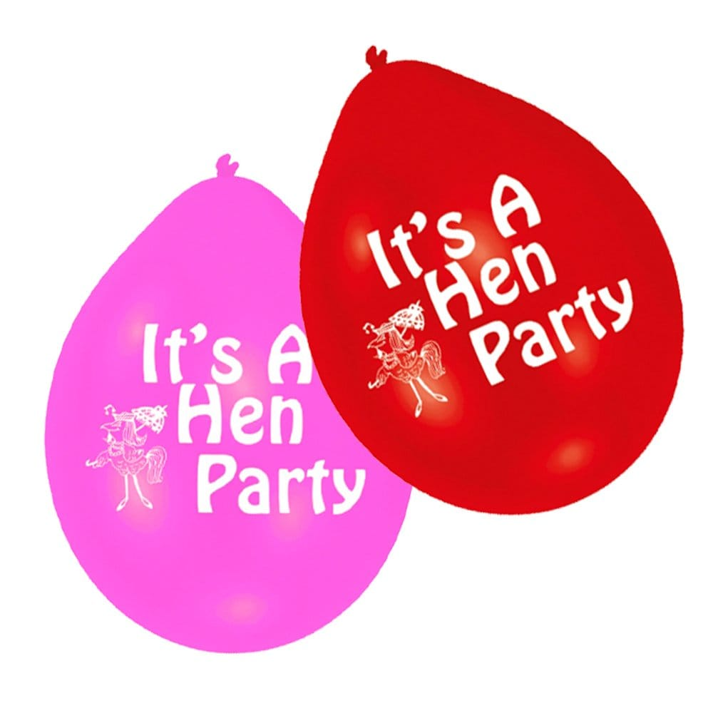 X10 it 39 s a hen party balloons for your hen party for Hen party at home decorations