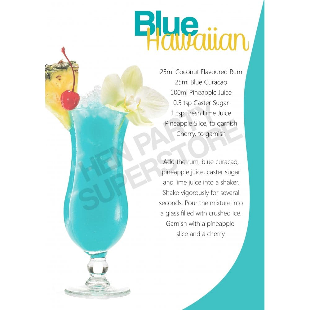 Blue Hawaiian Cocktail Recipe Hen Party Superstore
