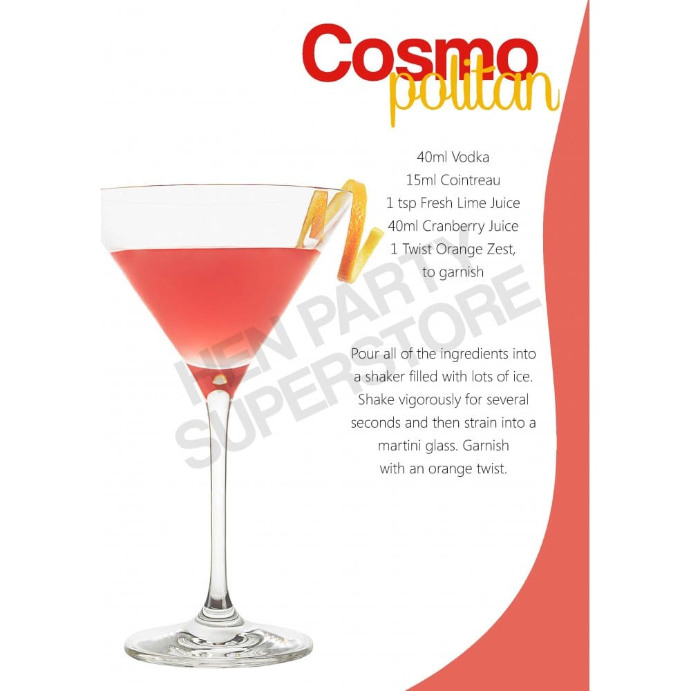 Cosmopolitan Cocktail Recipe Hen Party Superstore