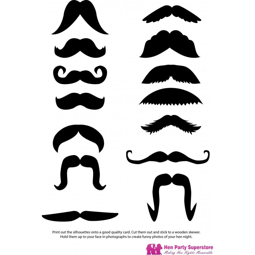 photo relating to Printable Mustache Templates identified as Moustache Templates Rooster Social gathering Superstore