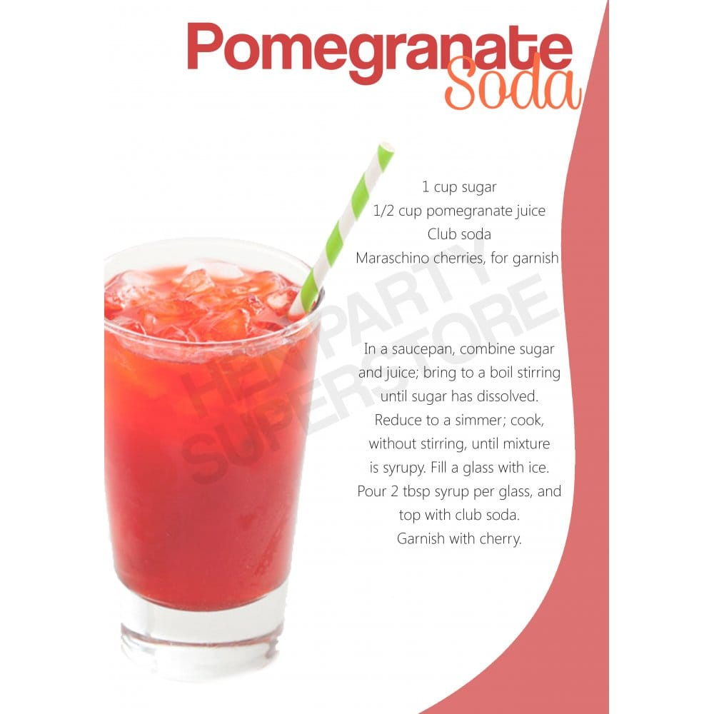 Pomegranate Soda Mocktail | 1000s of Products | UK Next Day Delivery