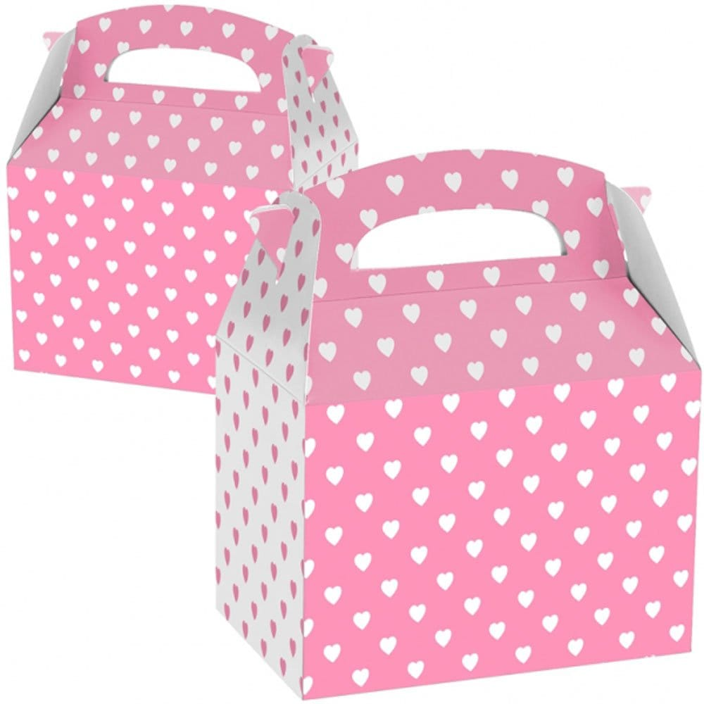 20451fdd7727 Love Heart Pattern Pink Party Boxes  For Your Hen Party Gift Bags ...