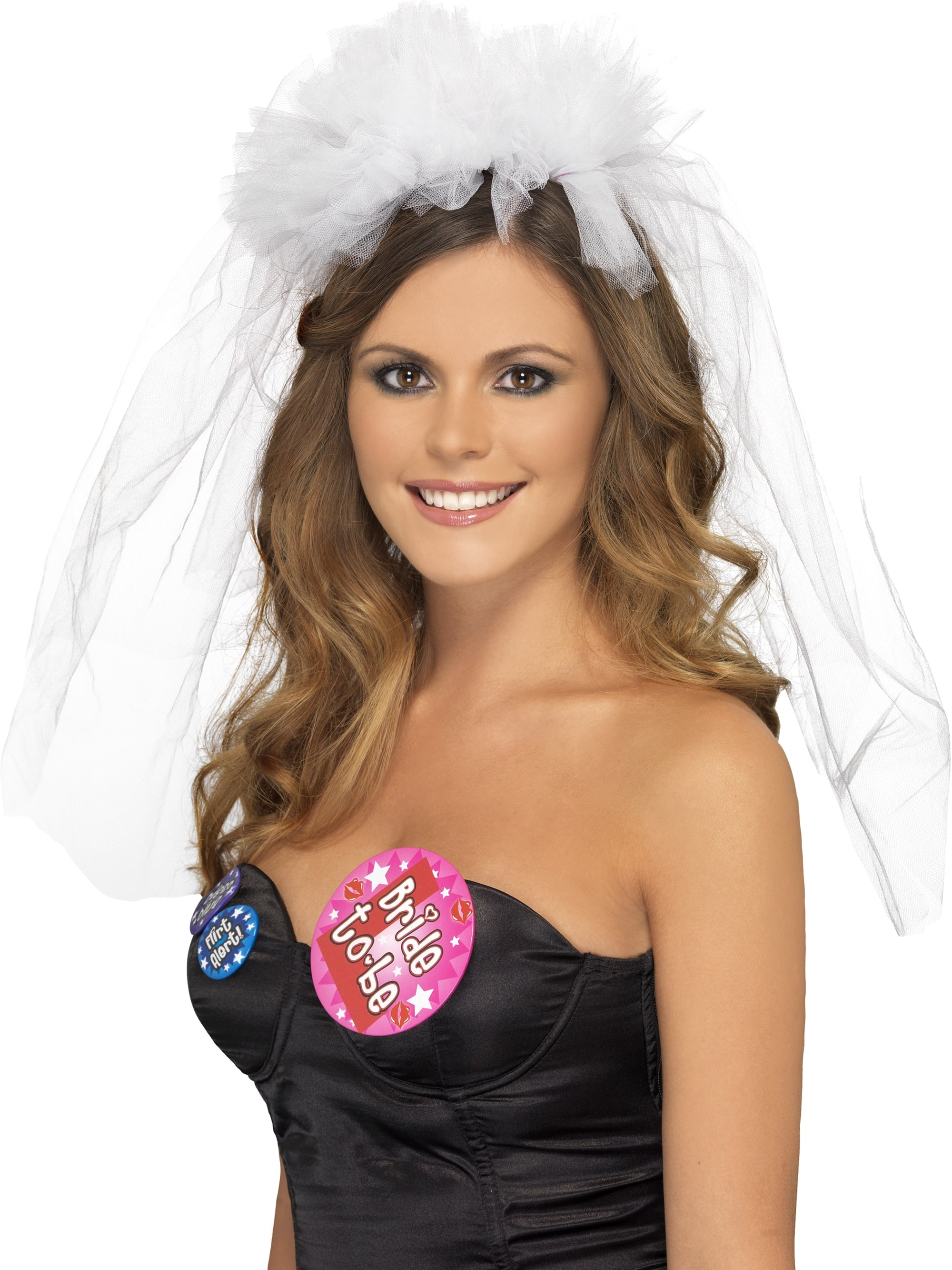 White Bride To Be Veil With Headband Attached f1e8327bac6