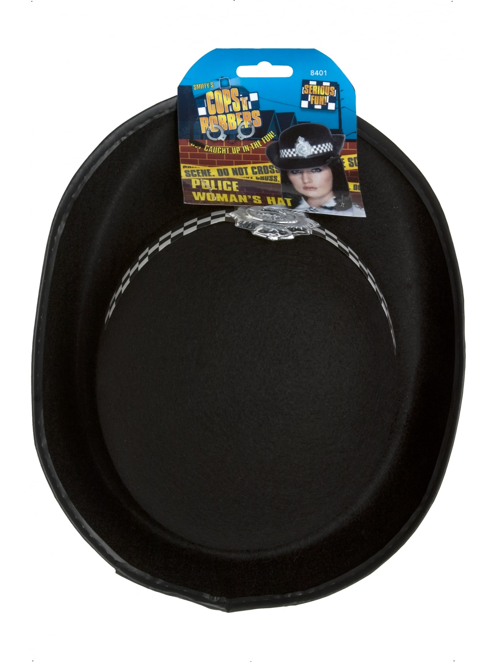 Policewomans Hat Ladies Police Officer Fancy Dress Accessory Hat
