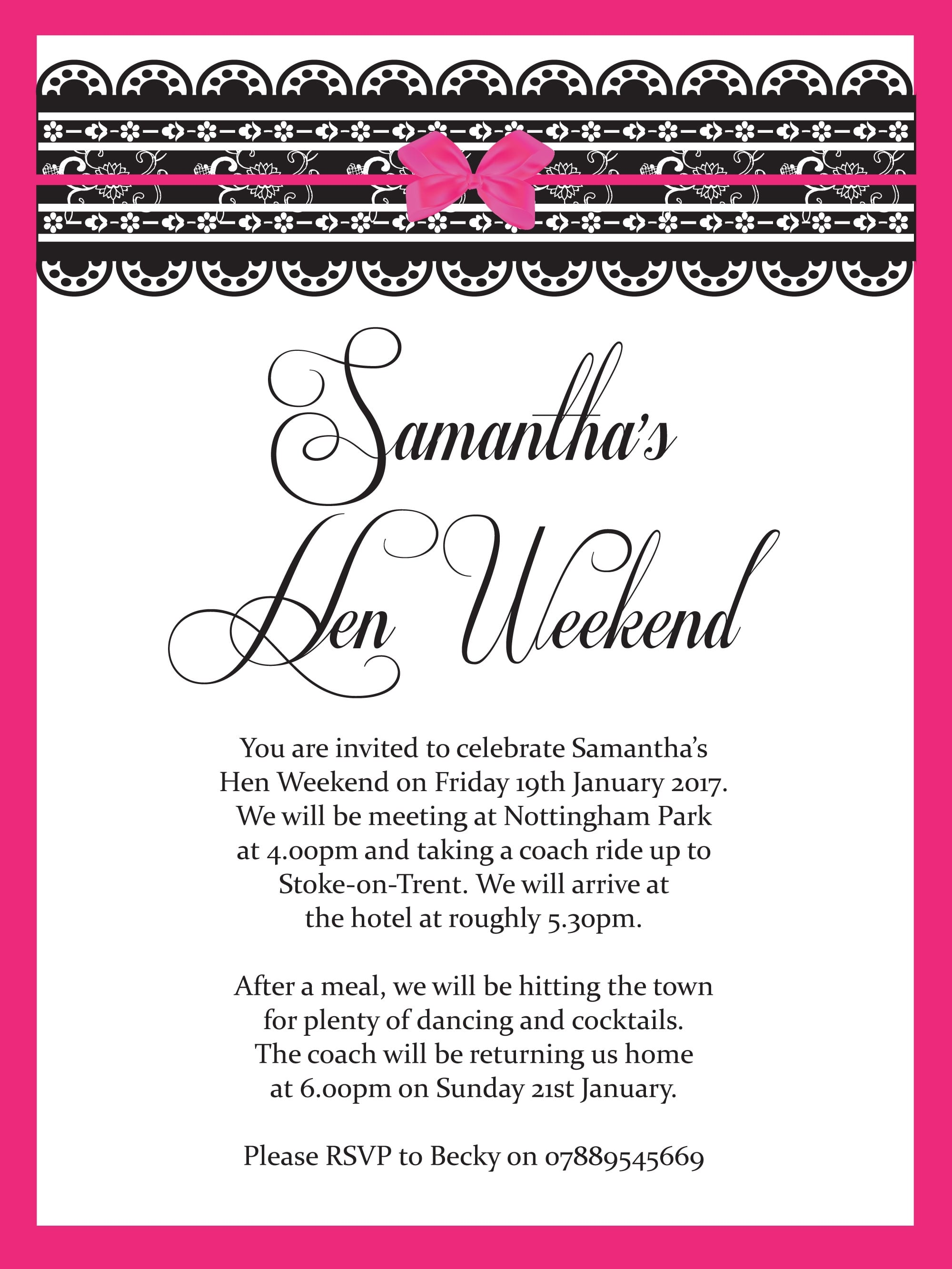 Hen Party Invitations | Personalised Invitations | Hen Party Superstore