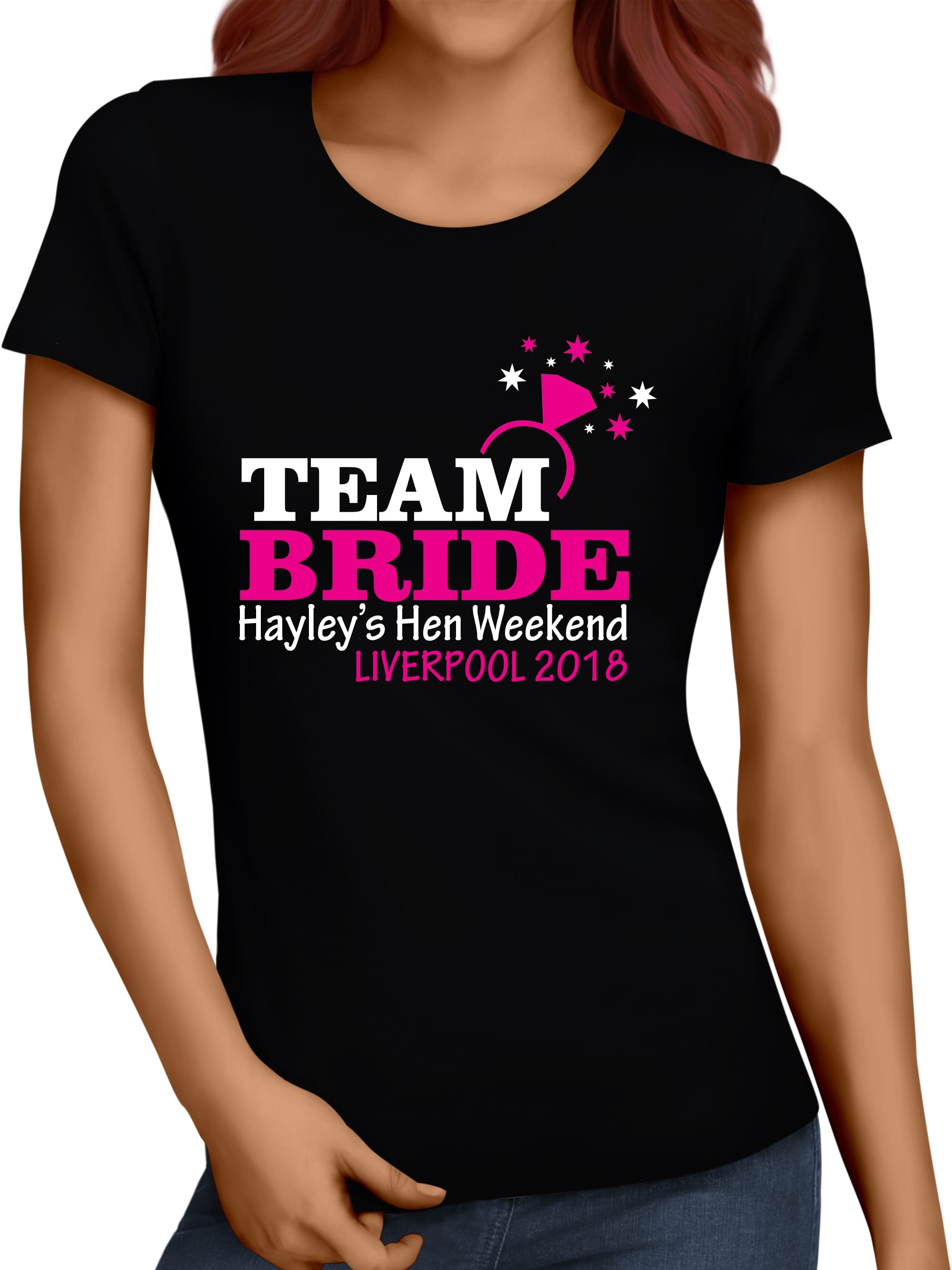Team bride personalised t shirt vest top hen party for Hen party t shirts