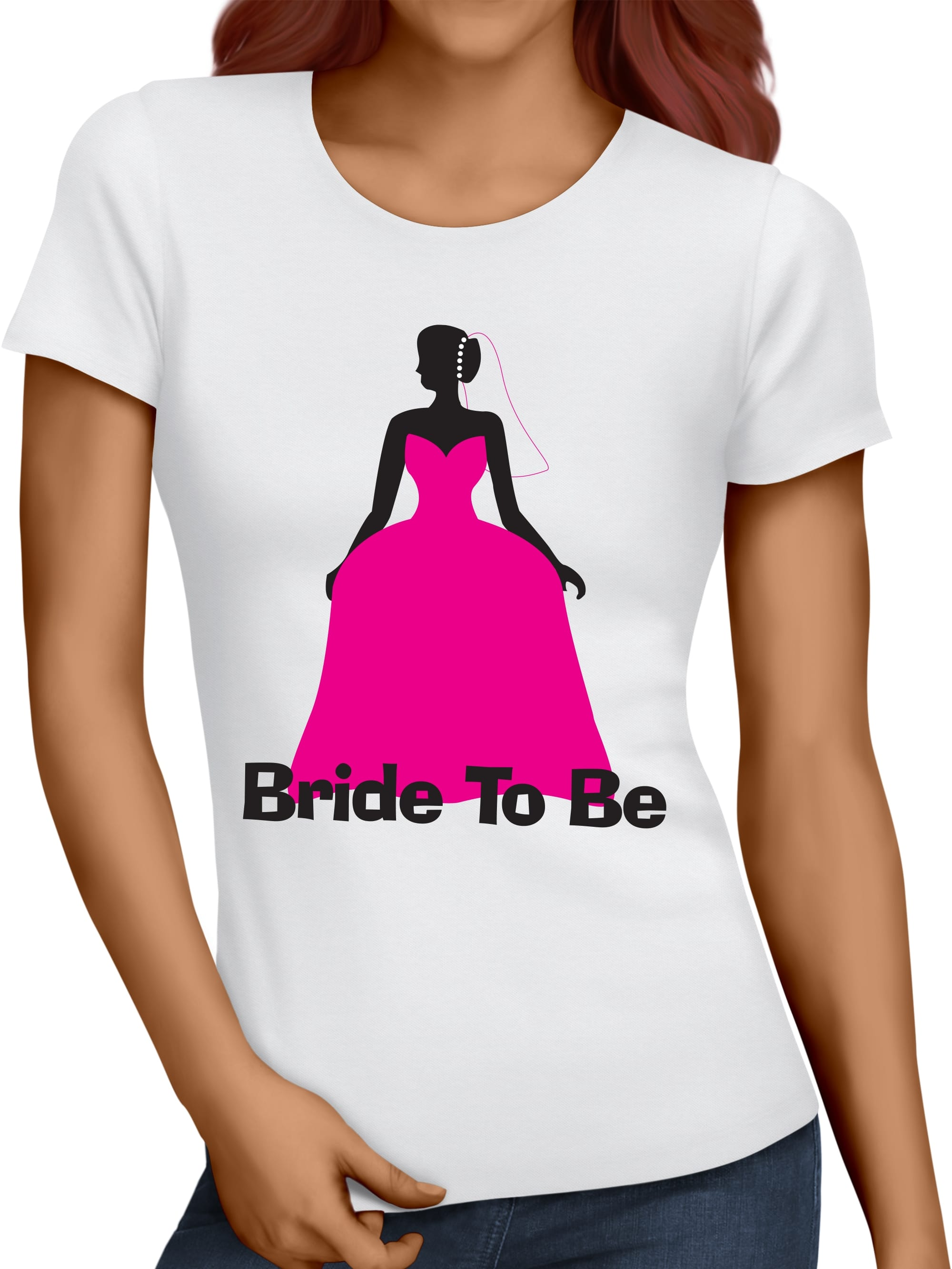 Wedding Dress Personalised T-Shirt/Vest | Hen Party Superstore