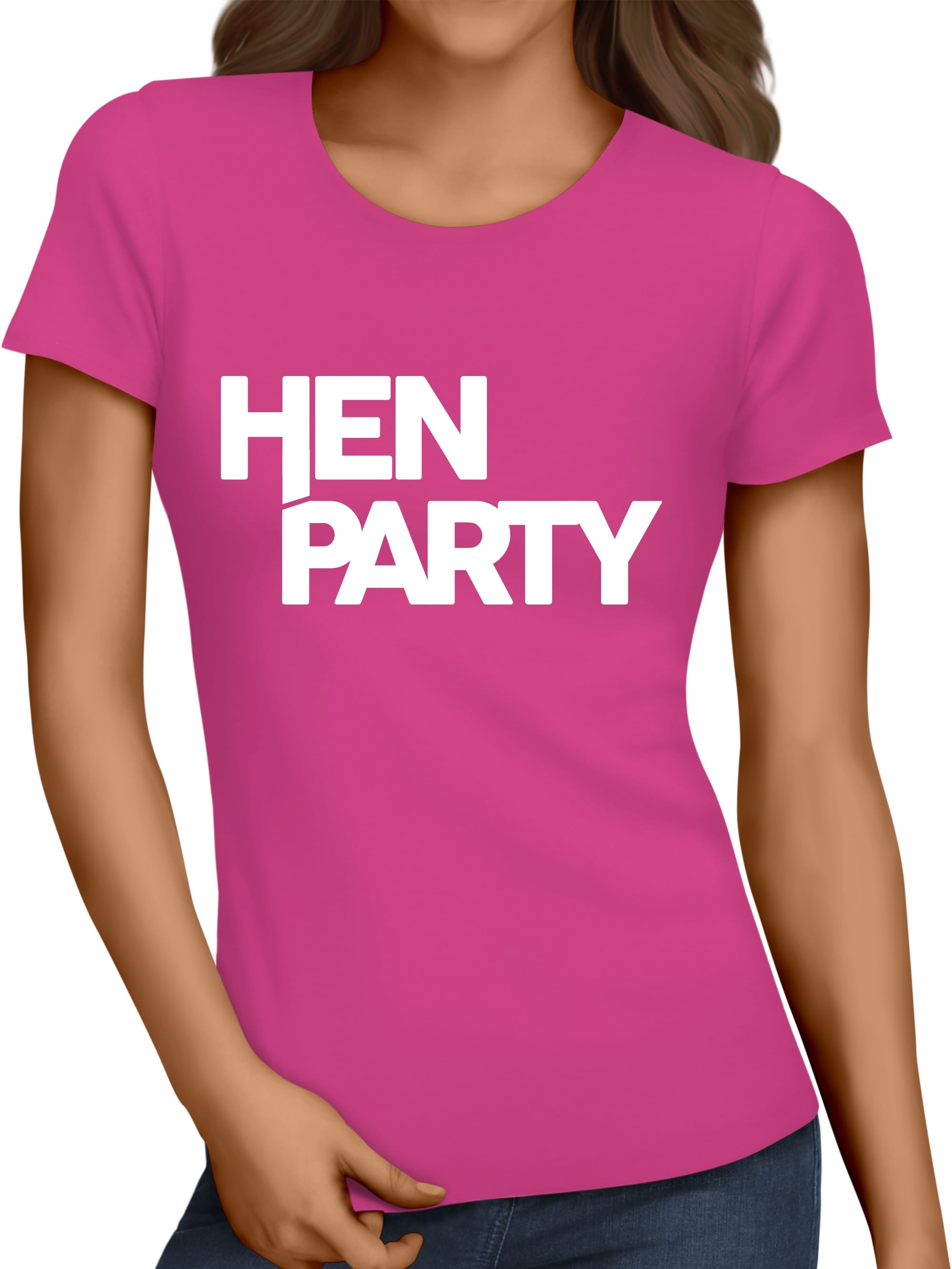 Cheap hen party personalised t shirts and vest tops hen for Hen party t shirts
