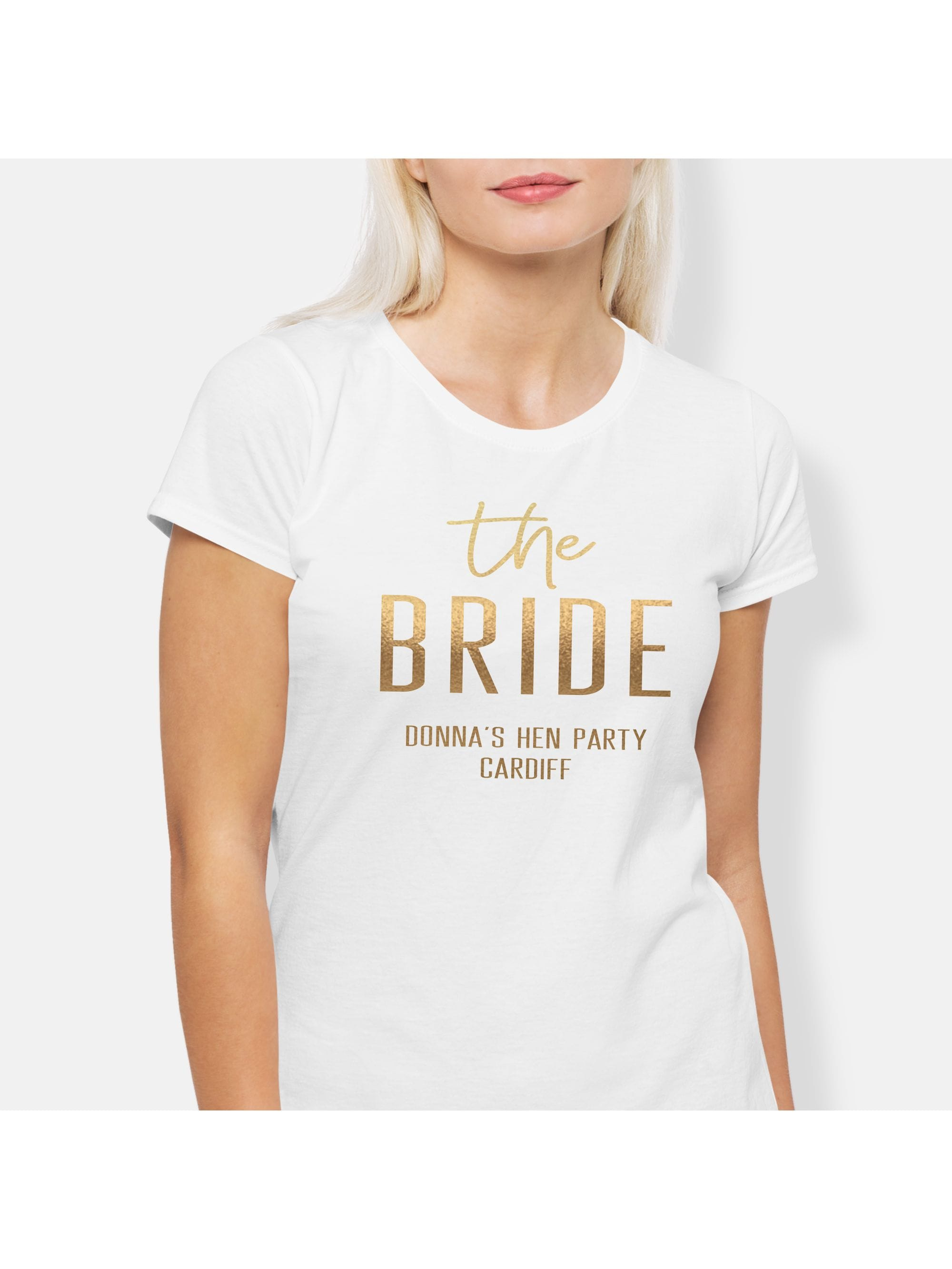 d449cc1a Hen Party Superstore Hen Squad Personalised The Bride T-Shirt