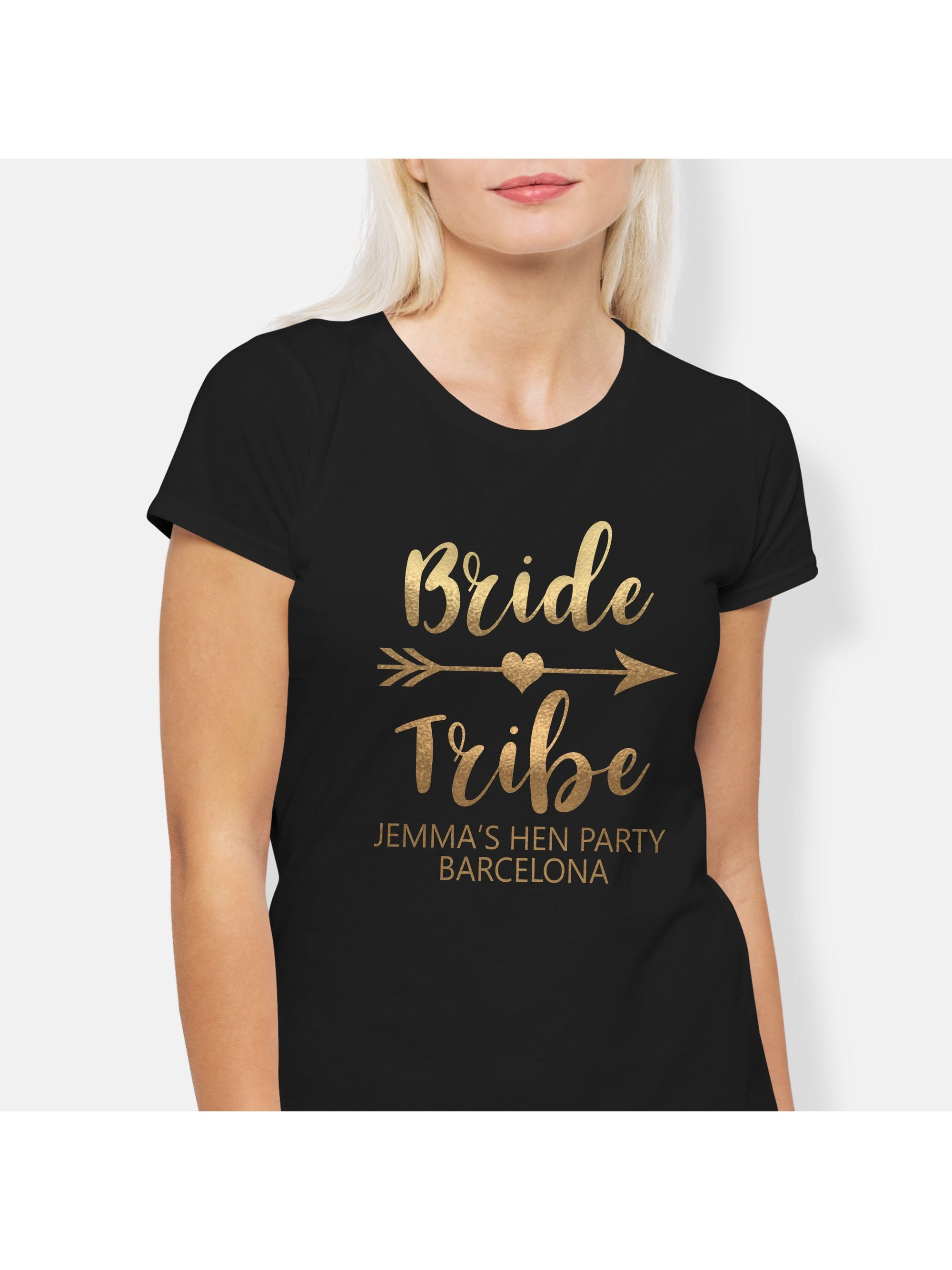 17c34e94 Hen Party Superstore Bride Tribe Personalised Metallic Gold Hen ...