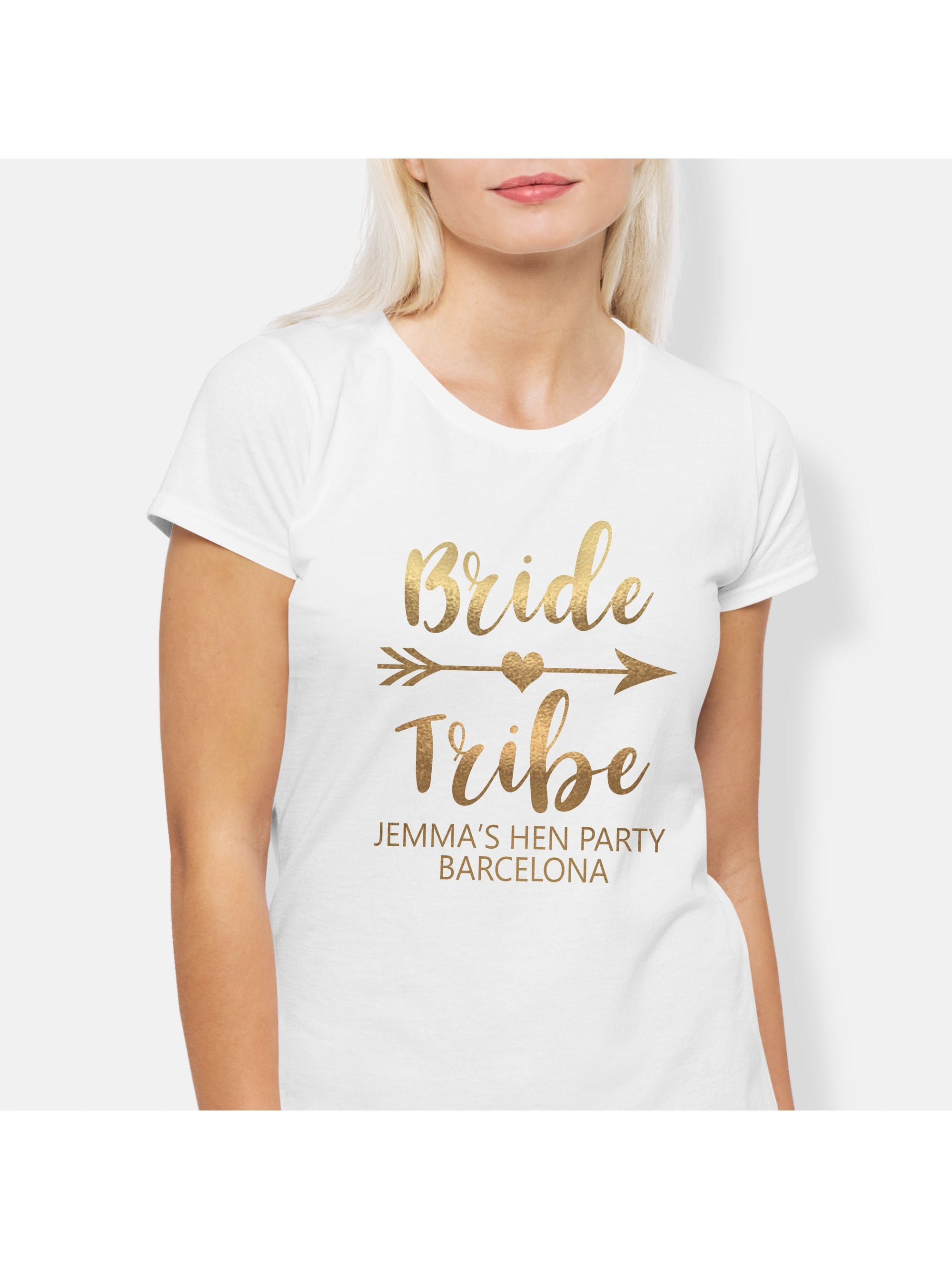 a75ee155 Hen Party Superstore Bride Tribe Personalised Metallic Gold Hen ...