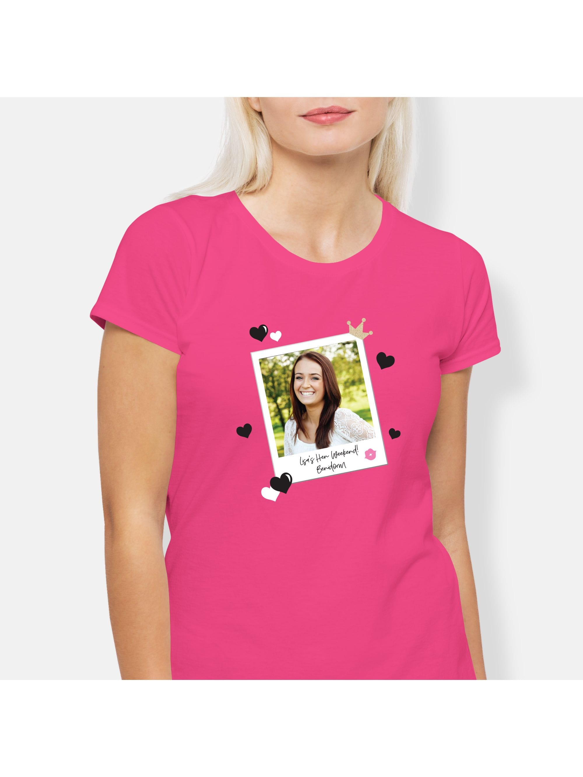 c0806102e Holiday Photo Personalised T-Shirt | Hen Party Superstore