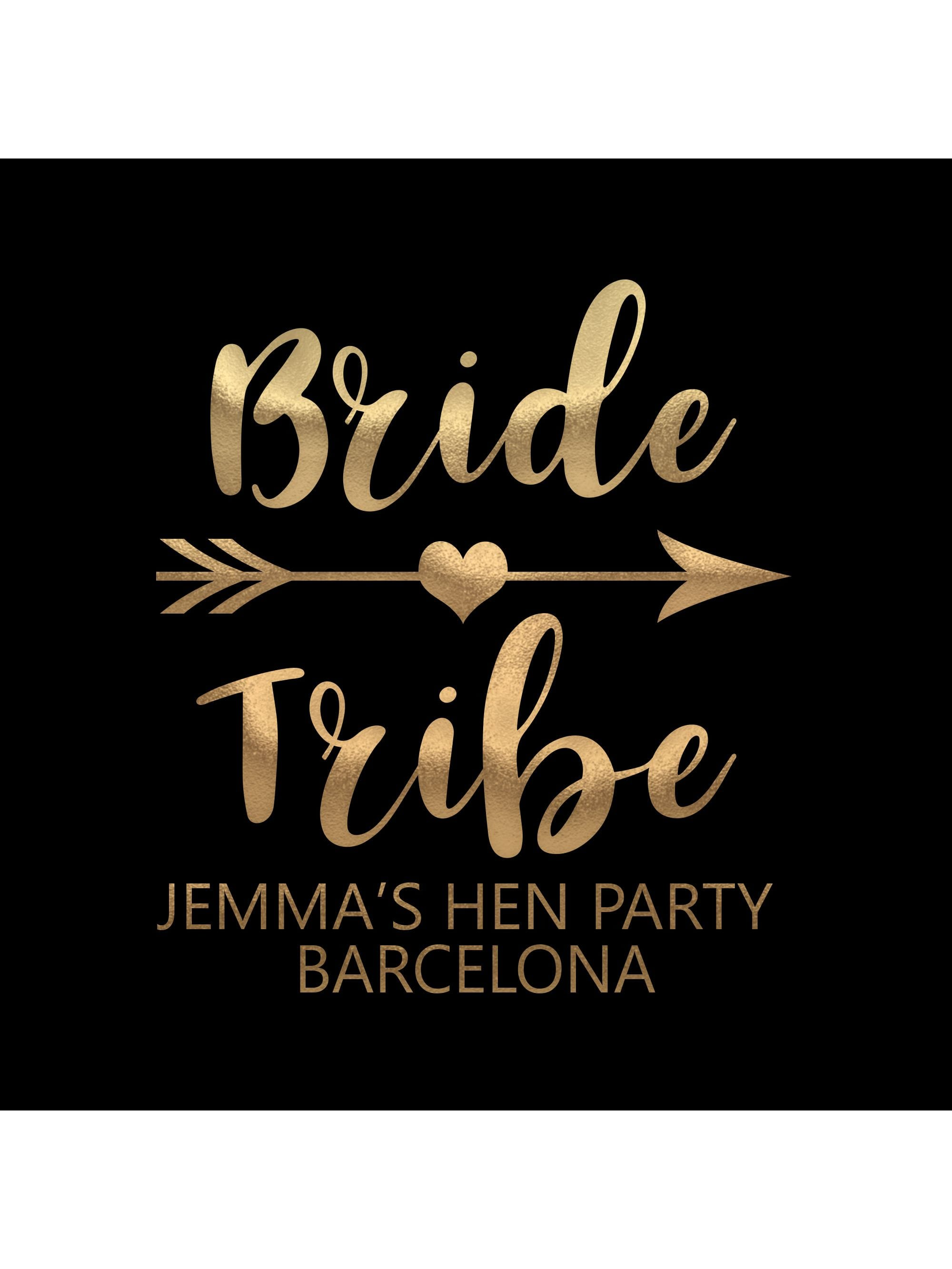 Bride Tribe Rose and White Personalised Stickers Pack of 12