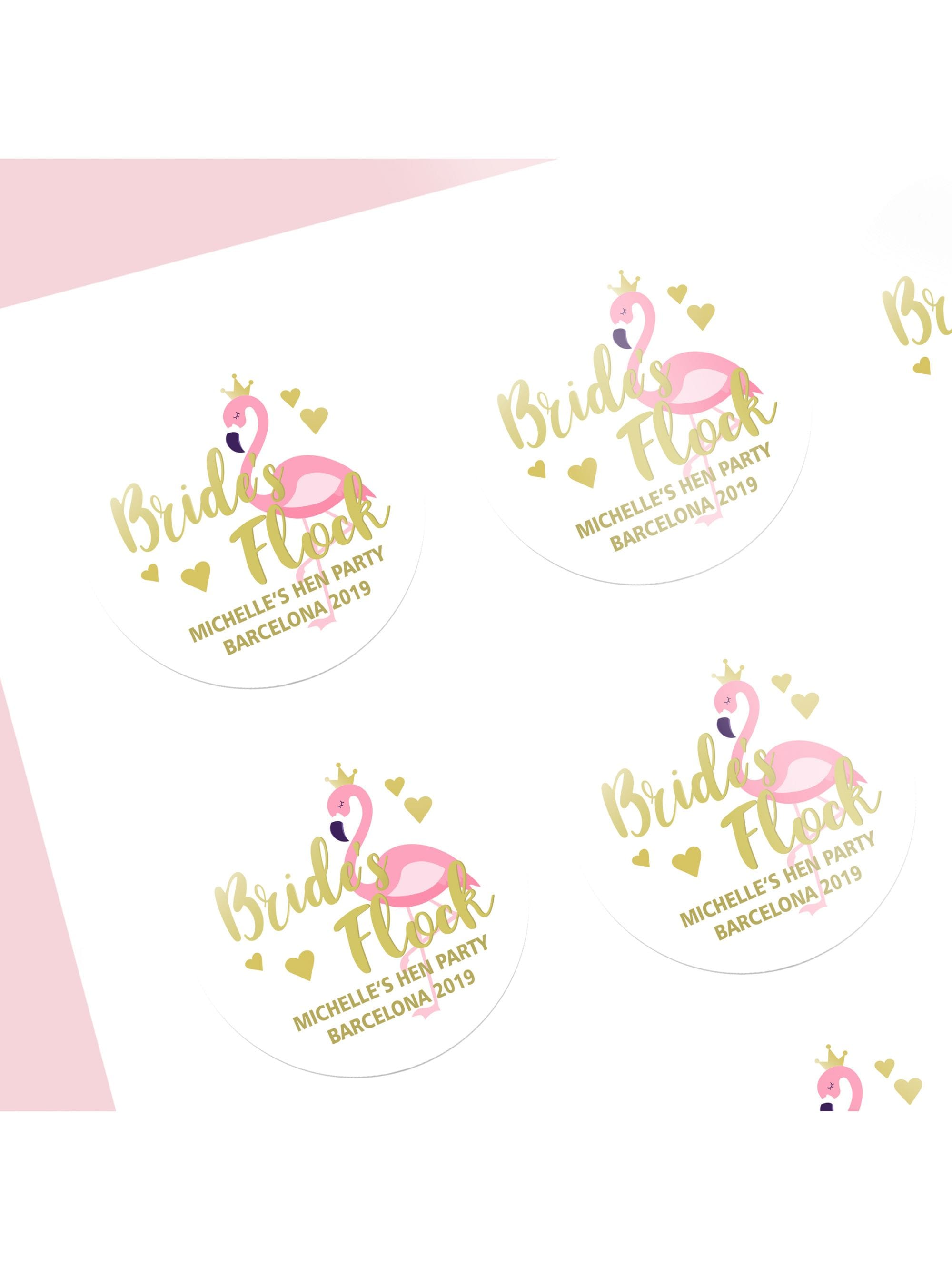 Pack of 12 Mermaid Tribe Personalised Hen Party Stickers