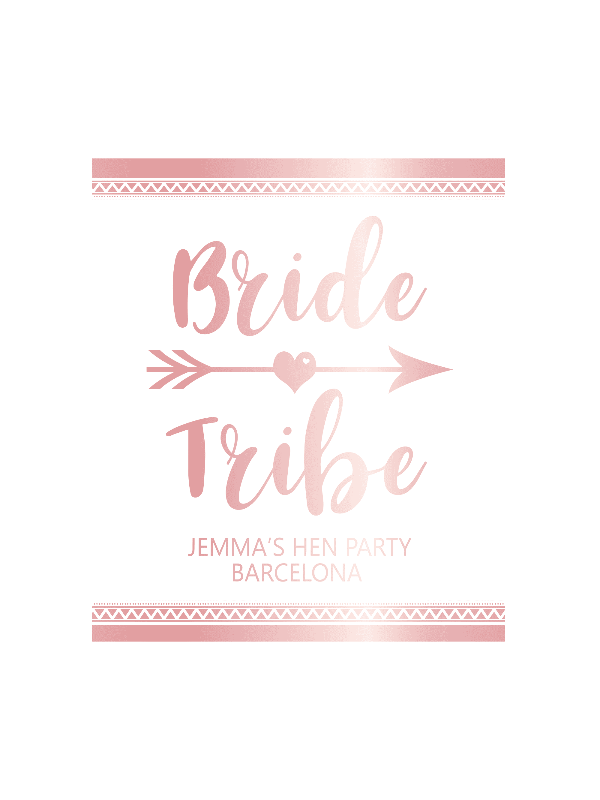 50 x Personalised Bride Tribe Stickers Hen Night Weekend Fun Novelty